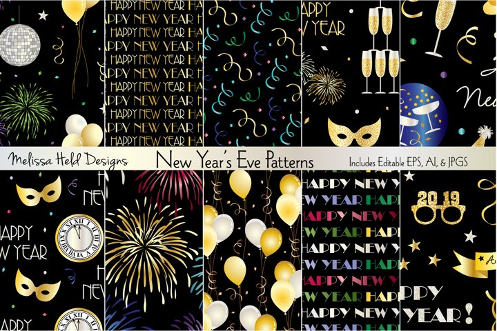 New Years Eve Patterns
