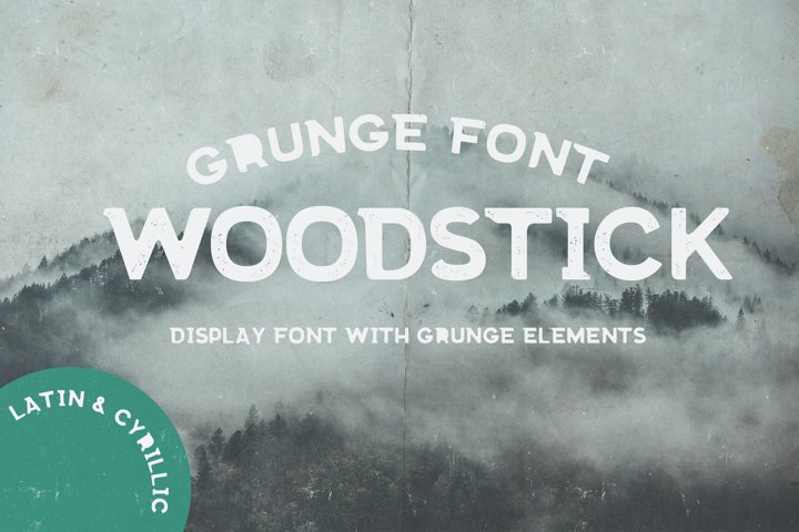 Grunge fonts Bundle example 1
