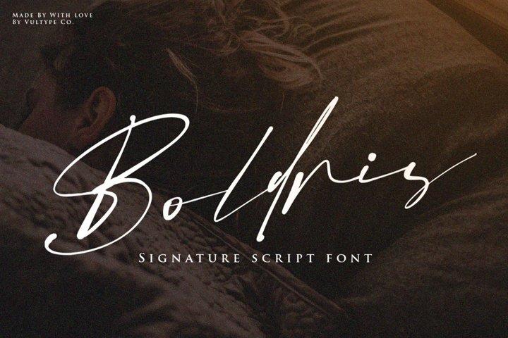 Boldris Signature Font