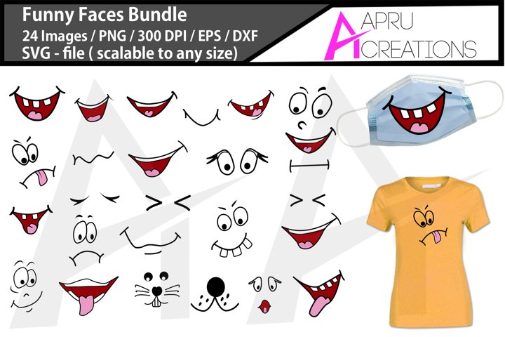 Funny Faces SVG Bundle / Funny Mouth vector