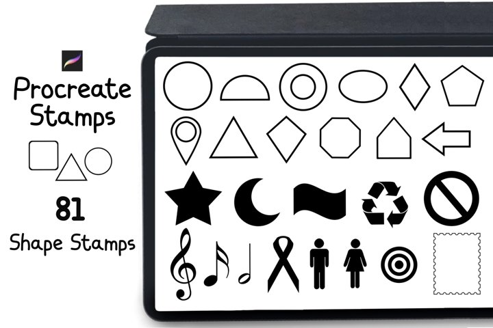 Procreate Stamps 81 Shape and Symbol Stamps