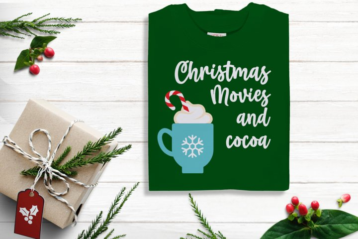 Christmas Movies and Cocoa SVG Design