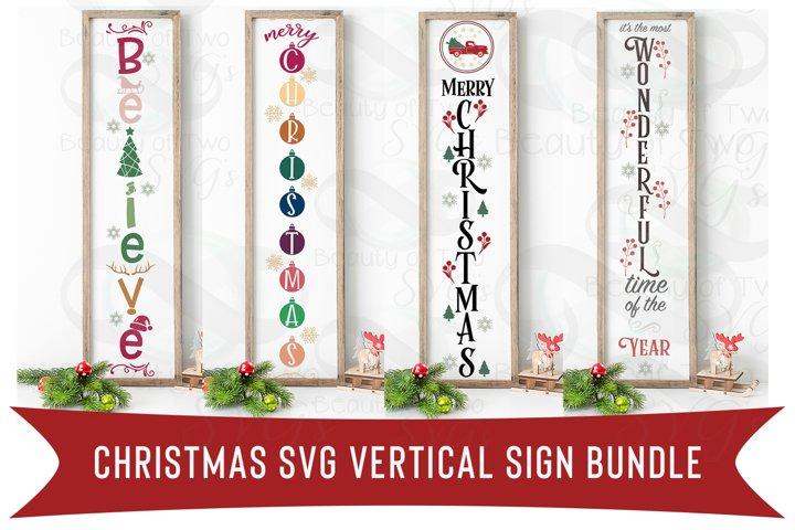 Christmas Vertical svg Sign Bundle, 4 Christmas svg designs