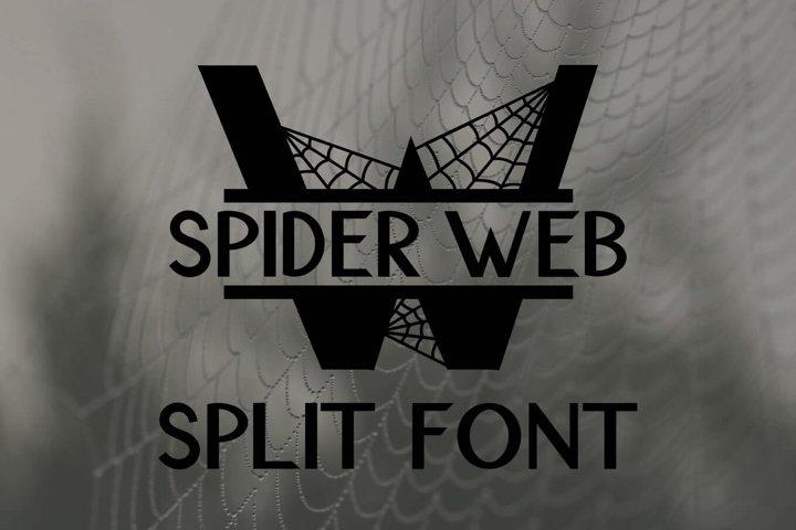 Spider Web Split Font - A Monogram Font