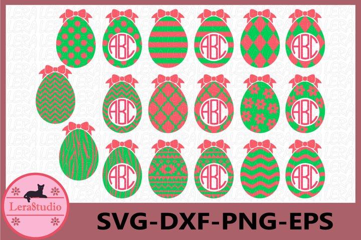 Easter SVG, Easter Eggs Svg, Eggs with Patterns Svg, Egg