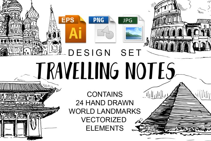 Travelling Notes Design Set