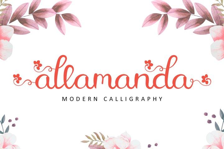 Allamanda - Modern Calligraphy