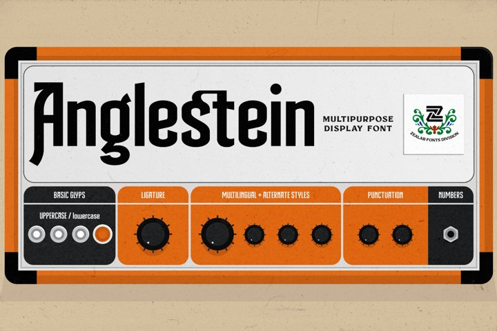 Anglestein - Multipurpose Display Font