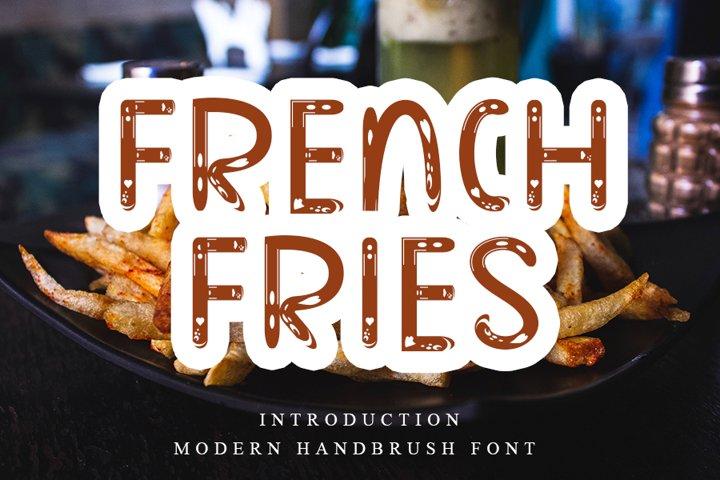 French Fries - Modern Handbrush Font