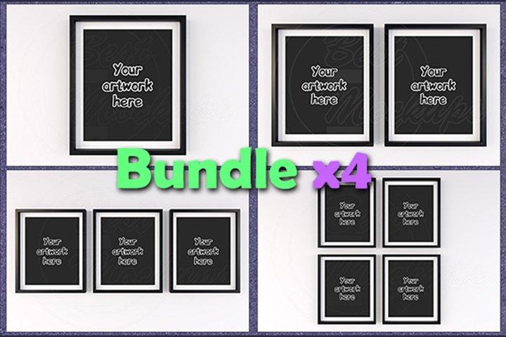 Mockup matted frames 8x10 BUNDLEx4