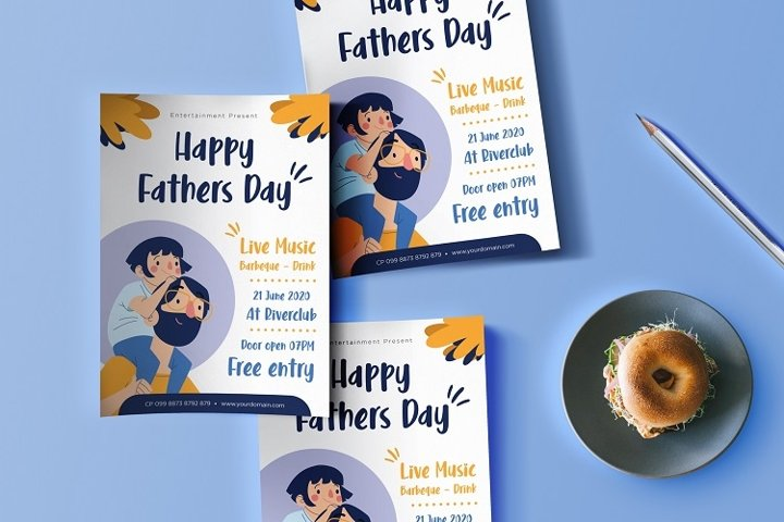 Fathers day flyer design