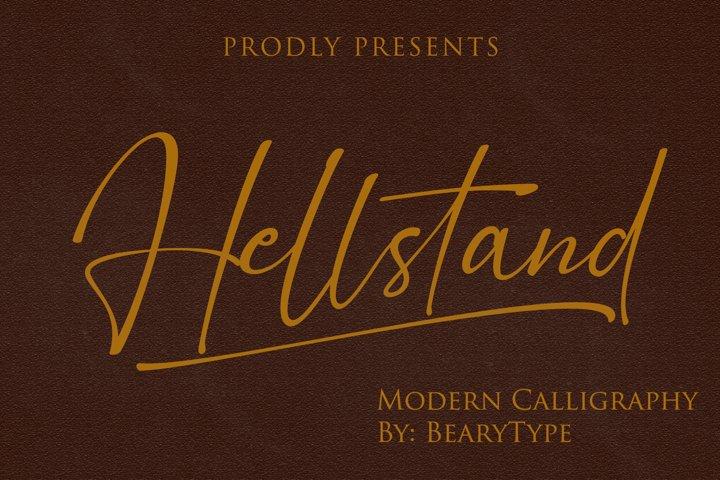 Hellstand // Script Fonts