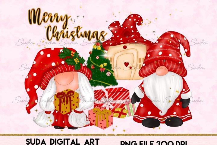 Christmas Gnomes House Sublimation