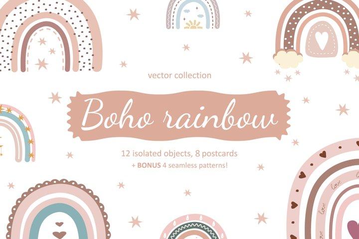 Boho rainbow vector bundle