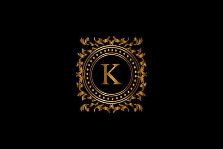 Vintage monograms K letter logo. corporate logo
