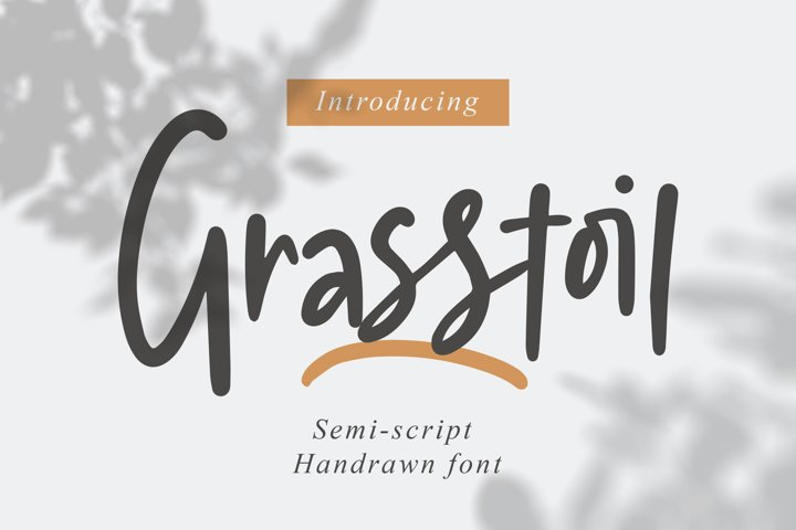 Grasstoil - Handwritten Fonts