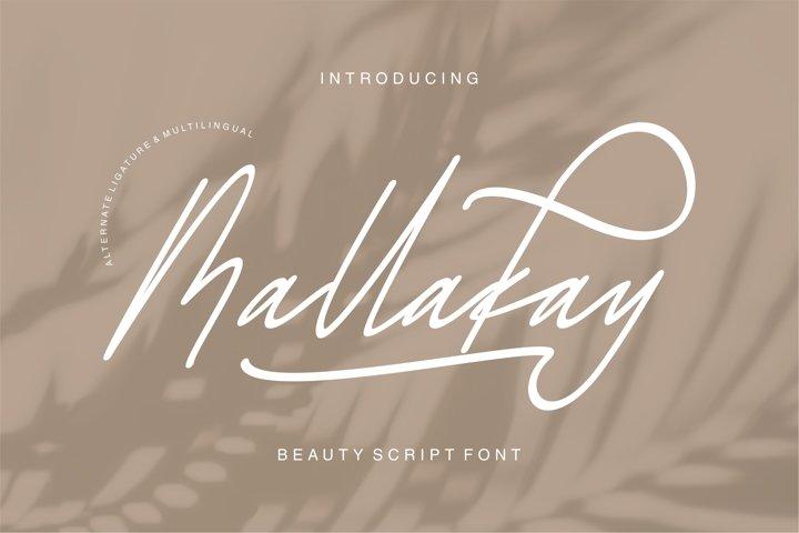 Mallakay - Beauty Script Font