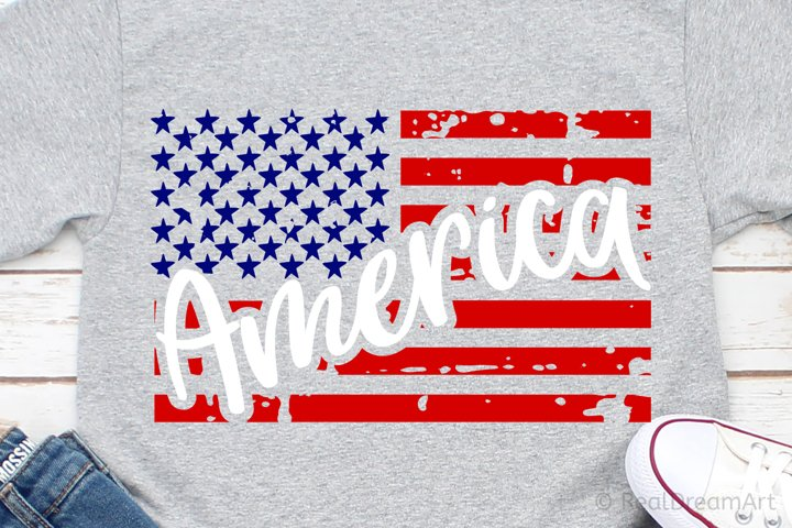 America with Flag SVG, DXF, PNG, EPS