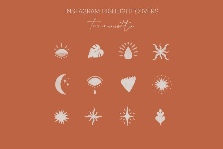 Instagram Highlight Covers Terracotta   Highlight Icons