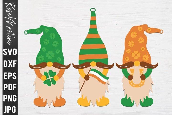 St Patricks day Gnomes Shamrock, Irish flag, Horseshoe