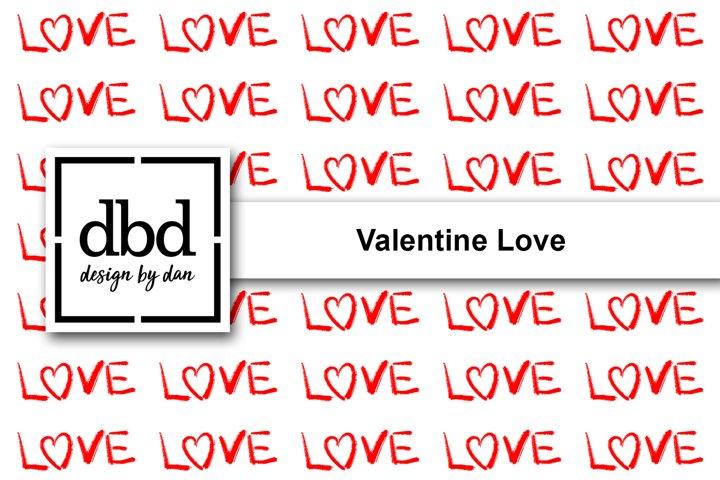 Valentine Love- Hand Drawn