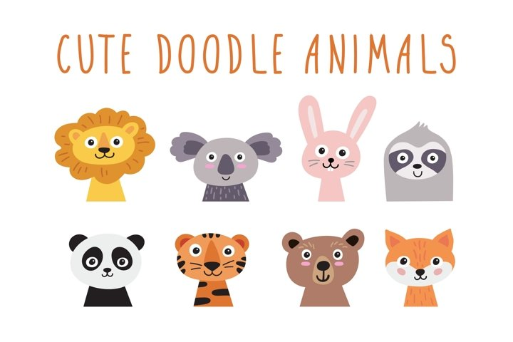 Cute doodle animals
