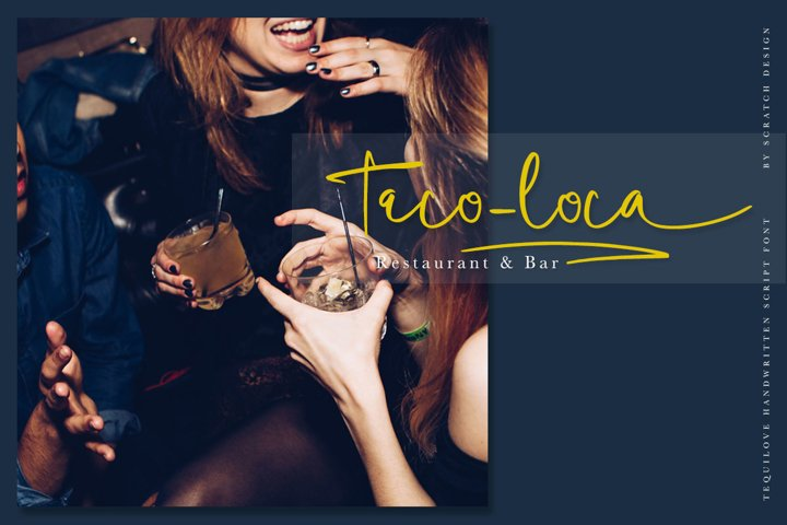 Tequilove - Free Font of The Week Design2