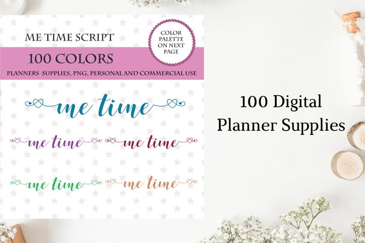 Me Time Sticker, Leisure Time Planner