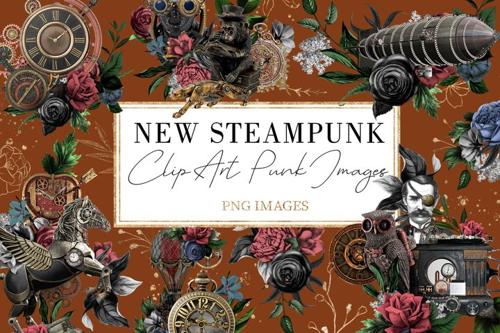 Steampunk |68 Elements in PNG