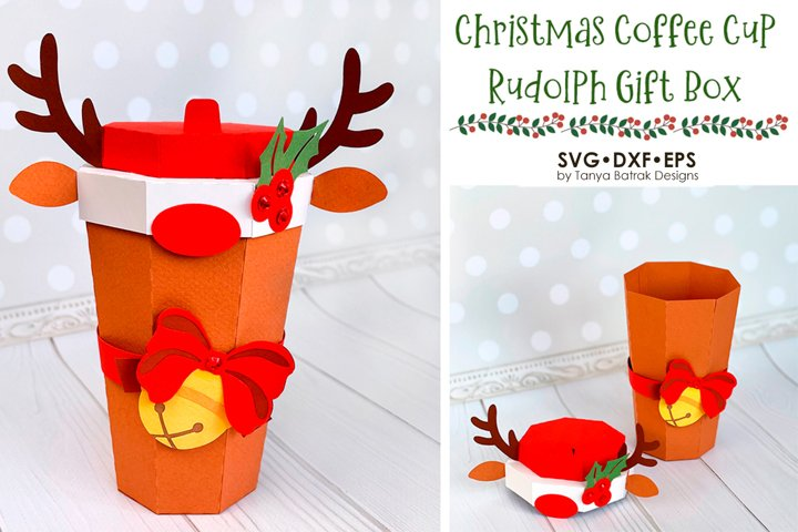 Christmas Reindeer Coffee Cup Box