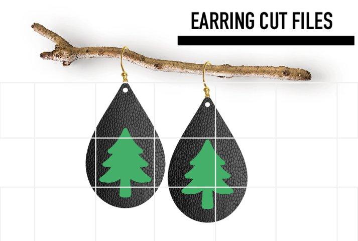 Christmas Tree Earrings Svg / Leather Earrings Template