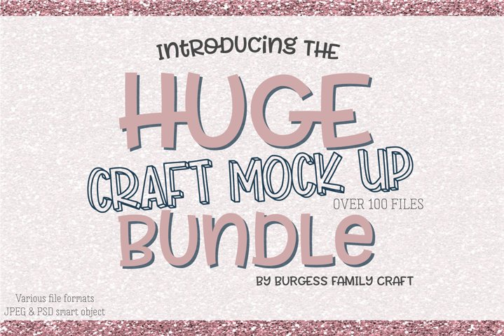 HUGE Craft mock up Bundle | Exclusive to Design Bundles