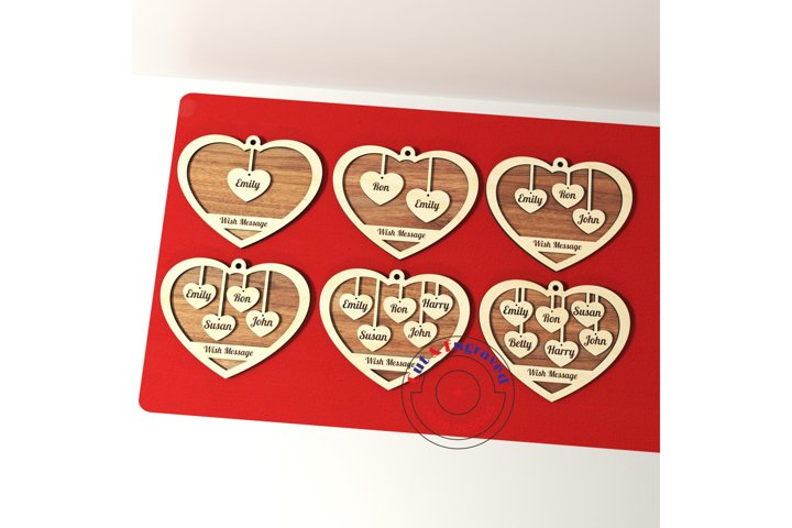 Valentines day hearts on a stand 6 styles. Glowforge ready.