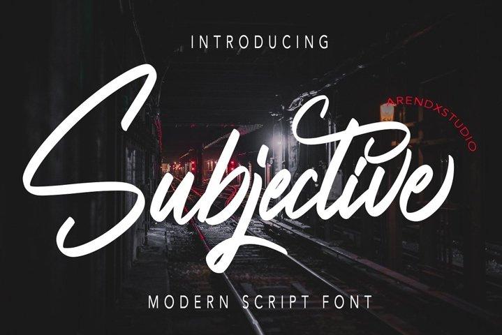 Subjective - Modern Script Font