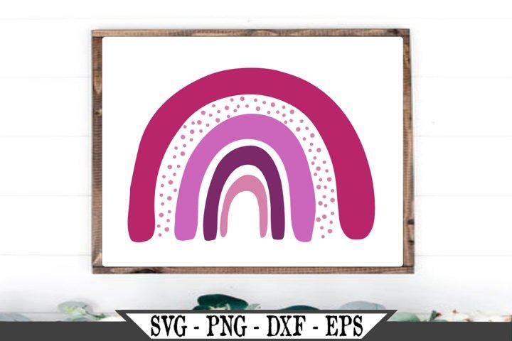 Boho Pink Rainbow SVG