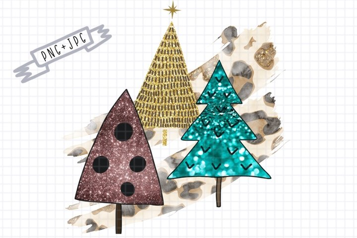 Sublimation 3 Christmas Tree-Sublimation Clipart-png decor