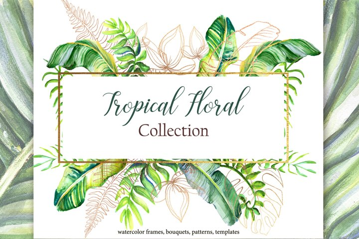 Tropical watercolor collection