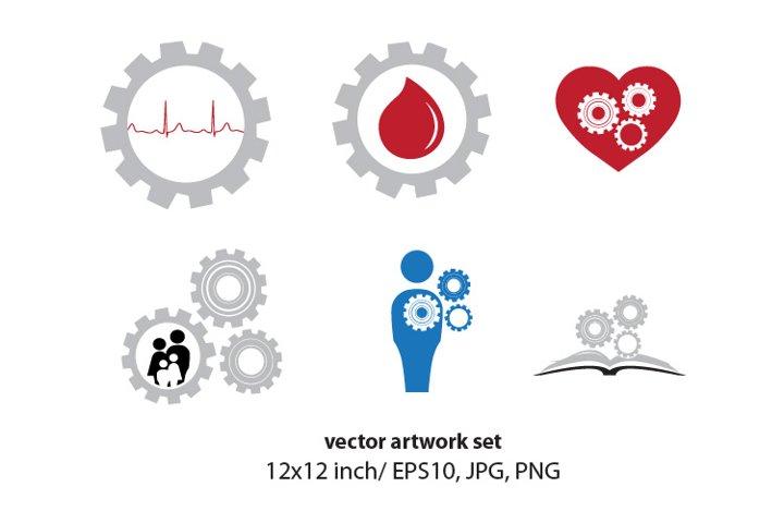 HEALTH GEARS - VECTOR ARTWORK SET