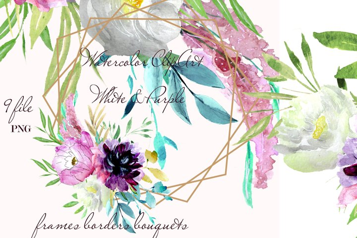 Wedding fowers Frame invites clipart