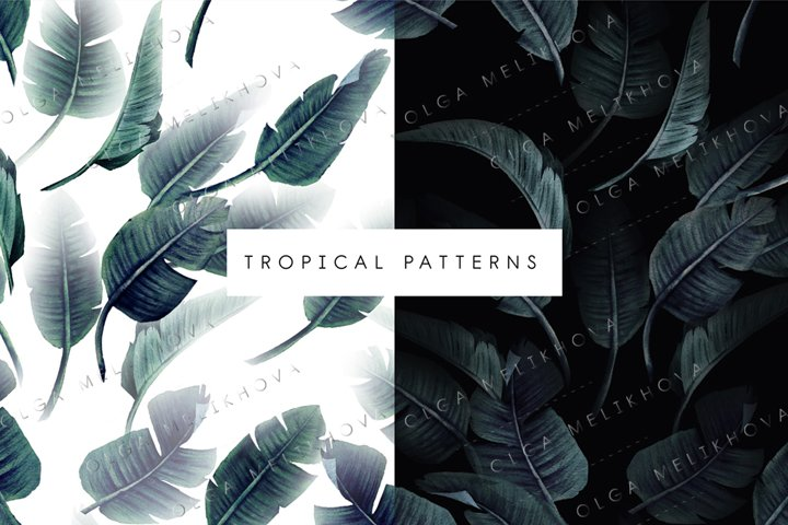 Green Leaves, Tropical pattern
