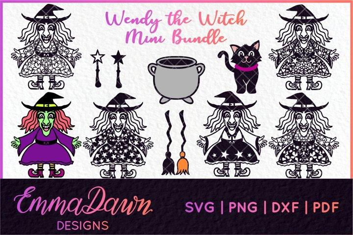 WENDY THE WITCH SVG MINI BUNDLE MANDALA ZENTANGLE DESIGN