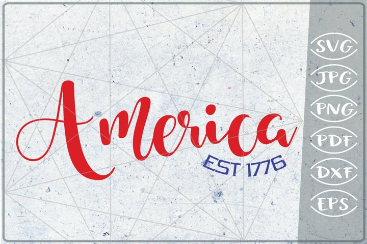 America SVG 4th of July Independence Day Crafters America