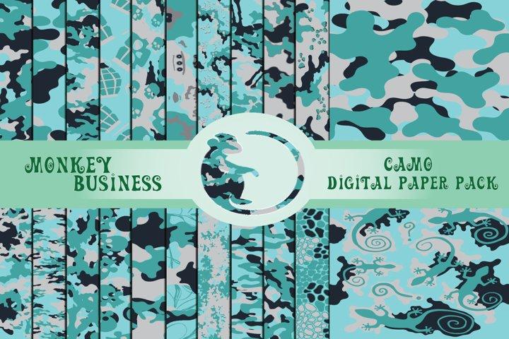 Blue camo digital papers, 22 high quality JPG files