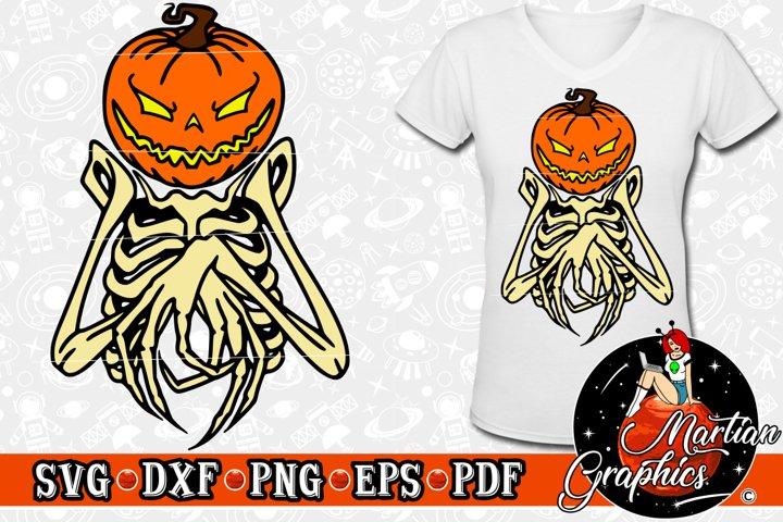 Download Halloween Pumpkin Bones 153955 Cut Files Design Bundles