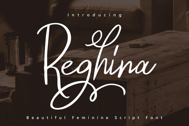 Reghina - Beautiful Feminine Script Font