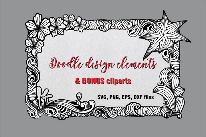 Design elements Pack & bonus cliparts