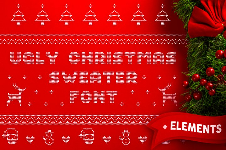 Ugly Christmas Sweater Font | Christmas Knitted Font