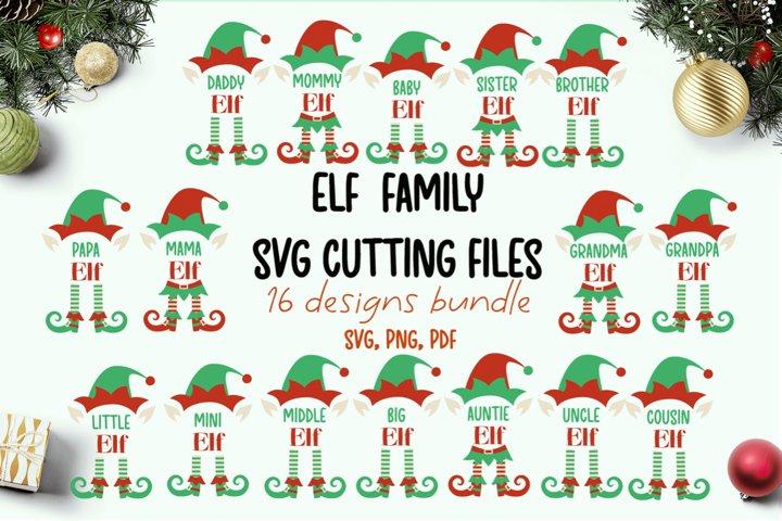 Elf family svg bundle