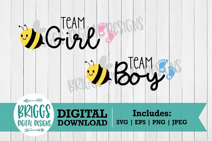 Team Boy Team Girl SVG | Baby Shower Cut Files
