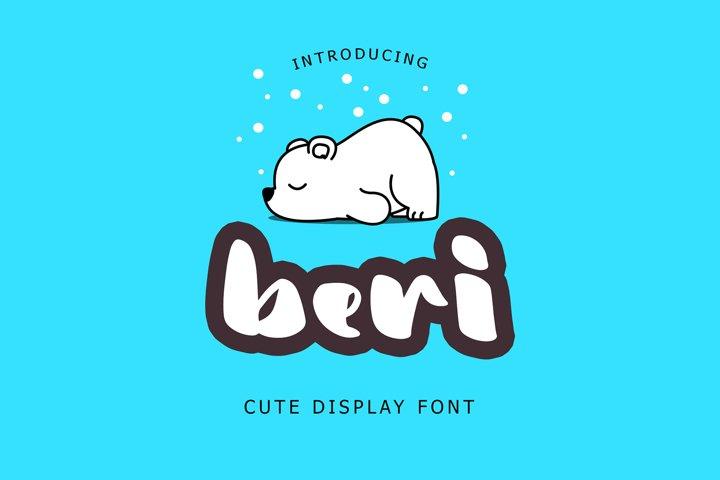 Beri Cute Display Font